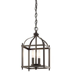 Larkin Olde Bronze Two Light Foyer Pendant
