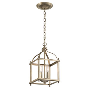 Larkin Sterling Gold Two-Light Mini Pendant