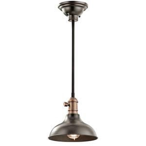 Cobson Olde Bronze One-Light Convertible Mini Pendant