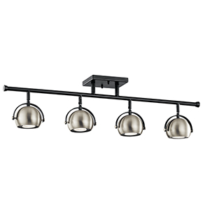 Solstice Black 4-Inch Four-Light Rail Light