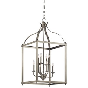 Larkin Brushed Nickel Eight-Light Large Foyer Pendant