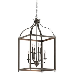 Larkin Olde Bronze Eight-Light Large Foyer Pendant