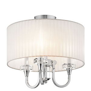 Parker Point Chrome Three-Light Semi-Flush Mount