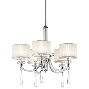 Parker Point Chrome Five-Light Chandelier