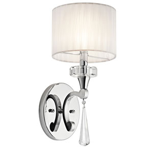 Parker Point Chrome One-Light Wall Sconce
