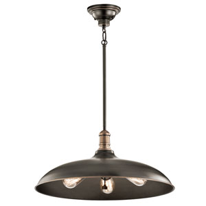 Cobson Olde Bronze Three-Light Pendant