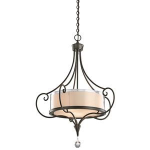 Laurel Shadow Bronze Three-Light Pendant