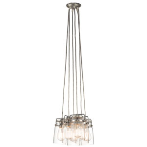Brinley Brushed Nickel 12-Inch Six Light Pendant