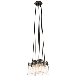 Brinley Olde Bronze 12-Inch Six Light Pendant