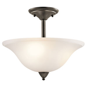 Nicholson Olde Bronze Three-Light Semi-Flush Mount