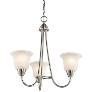 Nicholson Brushed Nickel Three-Light Chandelier