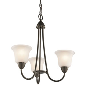 Nicholson Olde Bronze Three-Light Chandelier