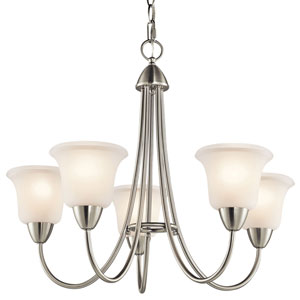 Nicholson Brushed Nickel Five-Light Chandelier