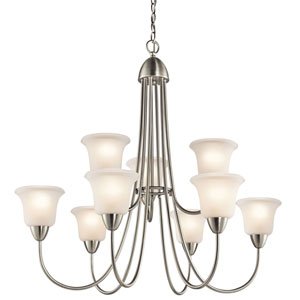 Nicholson Brushed Nickel Nine-Light Chandelier