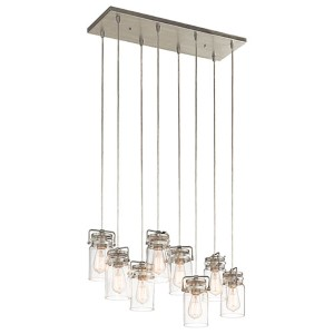 Brinley Brushed Nickel Eight-Light Island Pendant