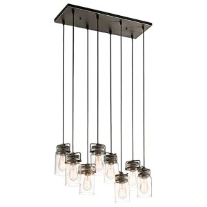 Brinley Olde Bronze Eight-Light Island Pendant
