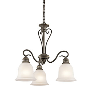 Tanglewood Olde Bronze 20-Inch Three-Light Energy Star Chandelier