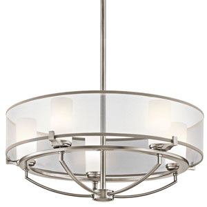 Saldana Classic Pewter Five-Light Chandelier