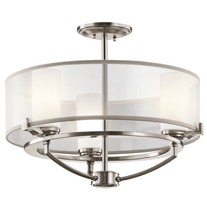 Saldana Classic Pewter Convertible Three-Light Pendant