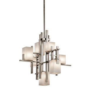 City Lights Classic Pewter Seven-Light Chandelier