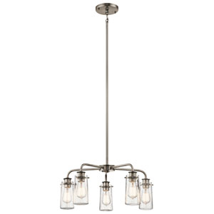 Braelyn Classic Pewter Five-Light Chandelier