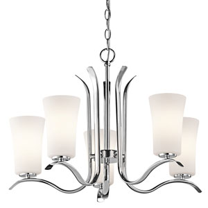 Armida Chrome Five-Light Chandelier