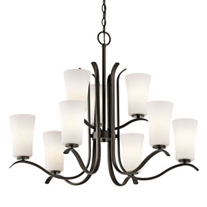 Armida Olde Bronze Nine-Light Chandelier