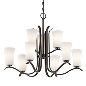 Armida Olde Bronze LED Nine-Light Chandelier