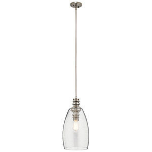 Lakum Classic Pewter 10-Inch One-Light Mini Pendant