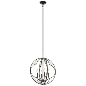 Montavello Olde Bronze 19-Inch Four-Light Chandelier