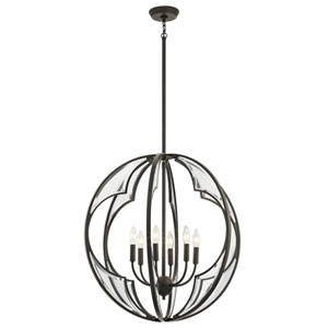 Montavello Olde Bronze 26-Inch Six-Light Chandelier