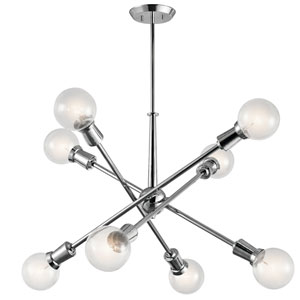 Armstrong Chrome 30-Inch Eight-Light Chandelier