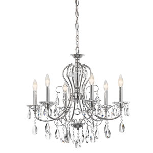 Jules Chrome Six-Light Chandelier
