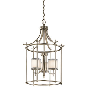 Tallie Antique Pewter Three-Light Chandelier