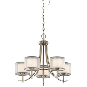 Tallie Antique Pewter Five-Light Chandelier