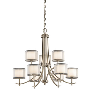 Tallie Antique Pewter Nine-Light Chandelier