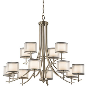 Tallie Antique Pewter 12-Light Chandelier