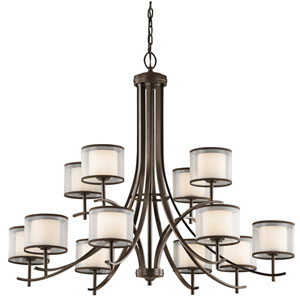 Tallie Mission Bronze 12-Light Chandelier