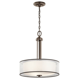 Tallie Mission Bronze Three-Light Pendant