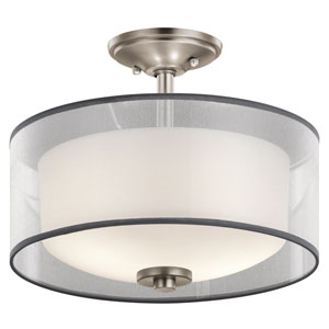 Tallie Antique Pewter Two-Light Semi Flush