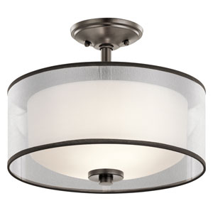 Tallie Mission Bronze Two-Light Semi Flush