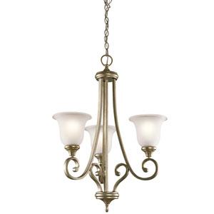 Monroe Sterling Gold Three-Light Chandelier