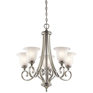 Monroe Five-Light Brushed Nickel Chandelier