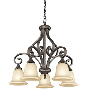 Monroe Olde Bronze Five-Light Chandelier