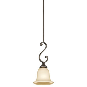 Monroe Olde Bronze One-Light Mini Pendant
