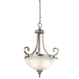 Monroe Two-Light Brushed Nickel Inverted Pendant