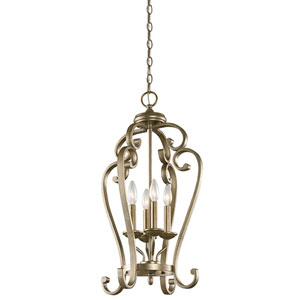 Monroe Sterling Gold Four-Light Foyer Chandelier