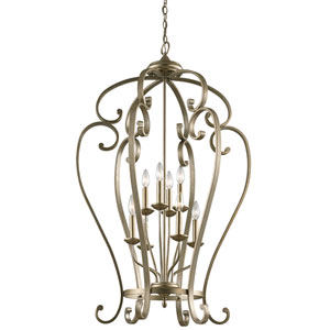 Monroe Sterling Gold Eight-Light Foyer Chandelier