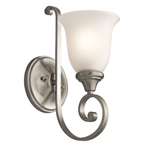 Monroe Brushed Nickel 6-Inch One-Light Energy Star Wall Sconce