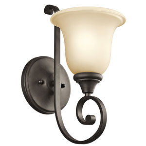 Monroe Olde Bronze One-Light Bath Fixture